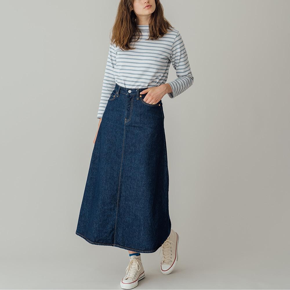 デニムロングスカート ONE WASH WOMEN