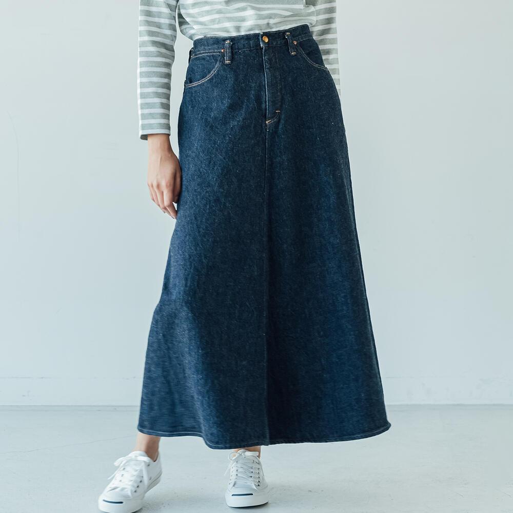 デニムロングスカート ONEWASH WOMEN