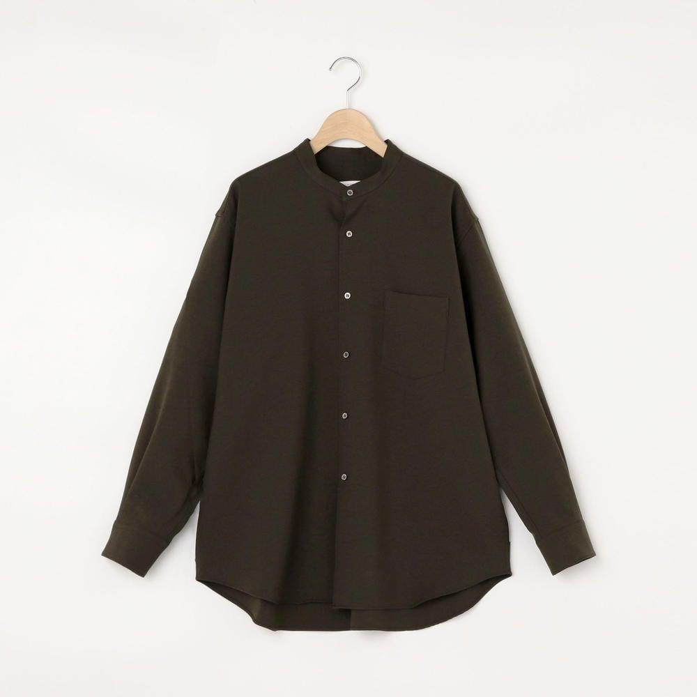 〈別注〉ポリエステル スタンドカラーシャツ WOMEN