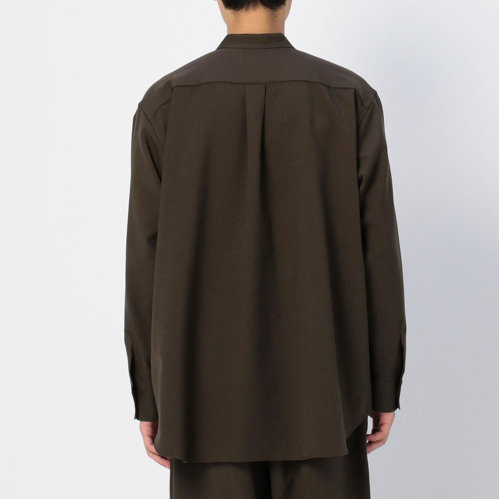〈別注〉ポリエステル スタンドカラーシャツ MEN