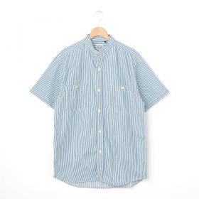 スタンドカラー半袖シャツ HICKORY MEN