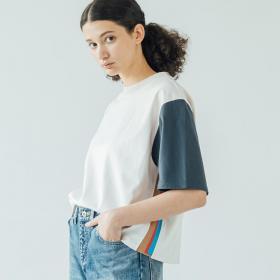 〈別注〉サイドライン ニットTシャツ WOMEN