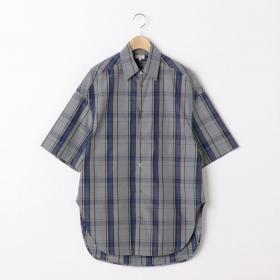 チェック 半袖ビッグシャツ WOMEN
