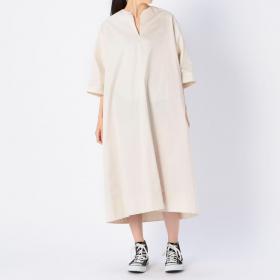 コットンサテン サックドレス WOMEN