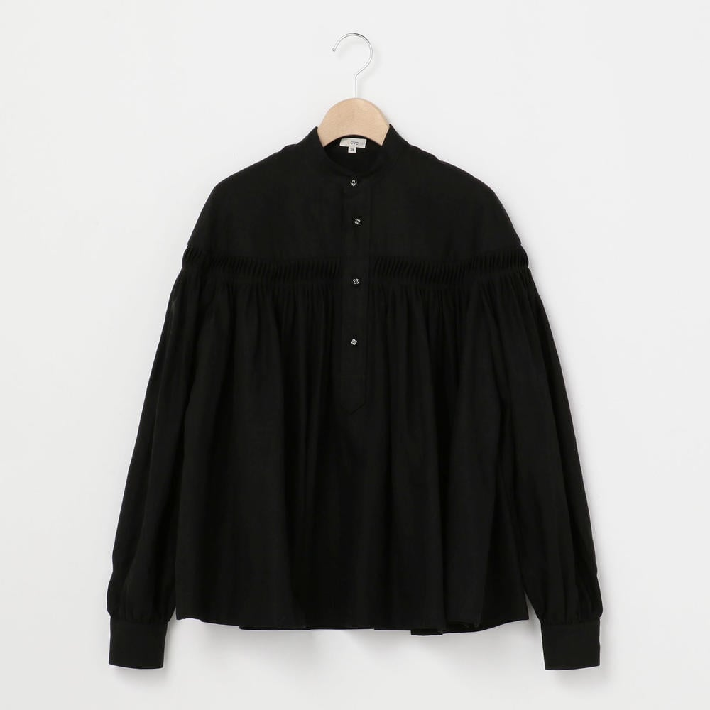 長袖リネンピンタックシャツ WOMEN