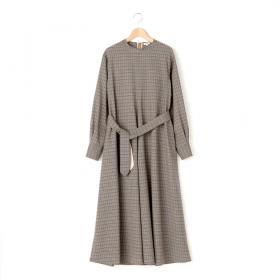 ウールチェックドレス WOMEN