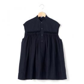リネンピンタック ノースリーブシャツ WOMEN