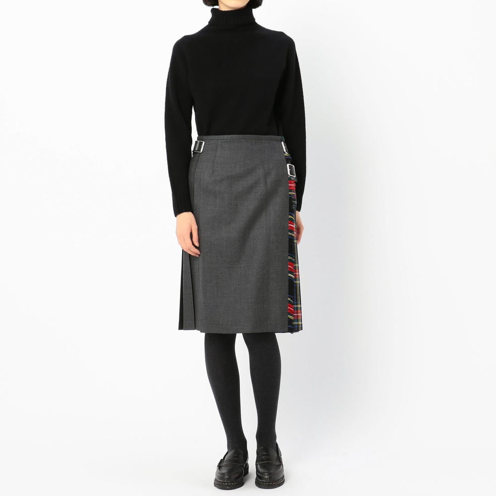 【OUTLET】コンビネーション キルトスカート WOMEN