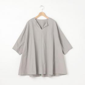 半袖スキッパープルオーバーシャツ GREY WOMEN