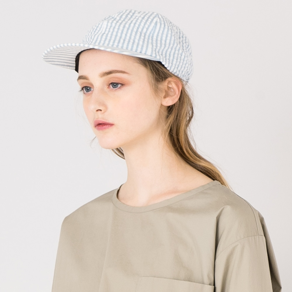 【OUTLET】シアサッカー 6パネルキャップ WOMEN