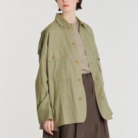 【OUTLET】パナマミリタリーシャツ WOMEN