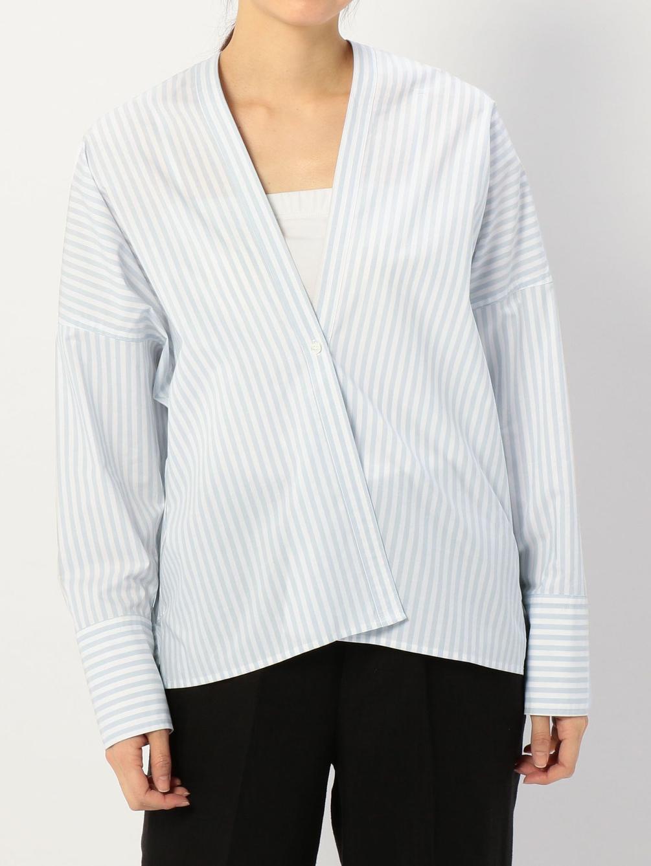 Vネックシャツカーディガン WOMEN