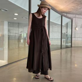 〈別注〉コットンガーゼスリーブレスドレス WOMEN