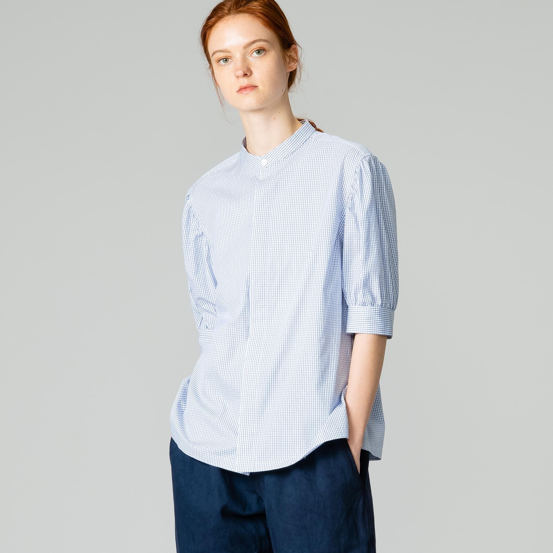 〈別注〉ギャザースリーブシャツ CHECK WOMEN