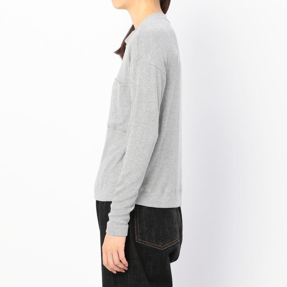 ビスコース リブTシャツ GREY WOMEN