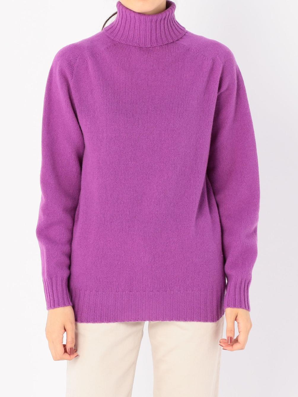 ジーロンラム タートルネックセーター MV WOMEN