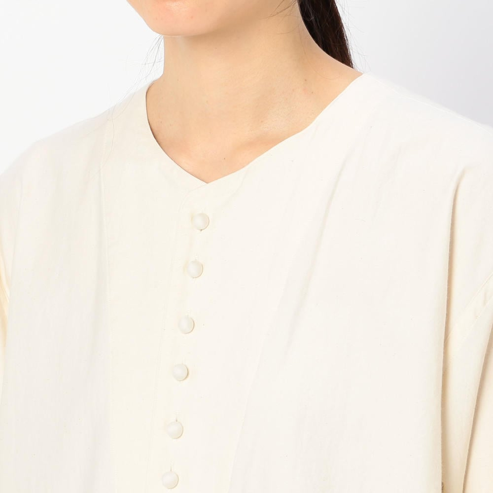 〈別注〉モールスキンノーカラーシャツ  WOMEN