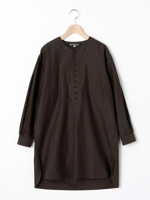 【OUTLET】モールスキン セミロングシャツ WOMEN