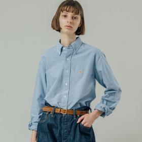 〈別注〉先染めOX BDシャツ SOLID WOMEN