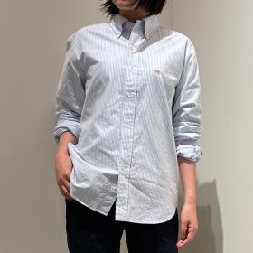 〈別注〉先染めOX BDシャツ STRIPE WOMEN
