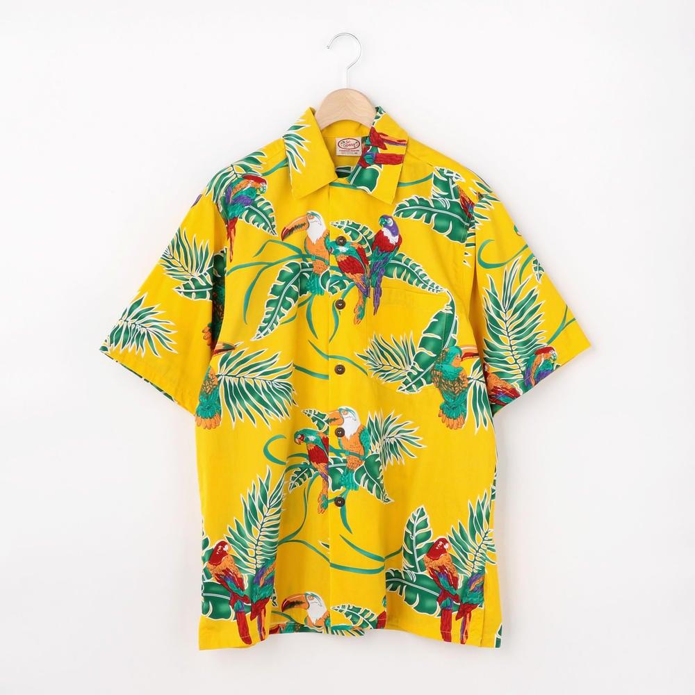 【OUTLET】〈別注〉ハワイアンシャツ TROPICAL BIRDS / MEN