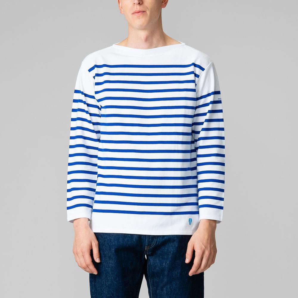 ラッセルフレンチセーラーTシャツ WHITE MEN