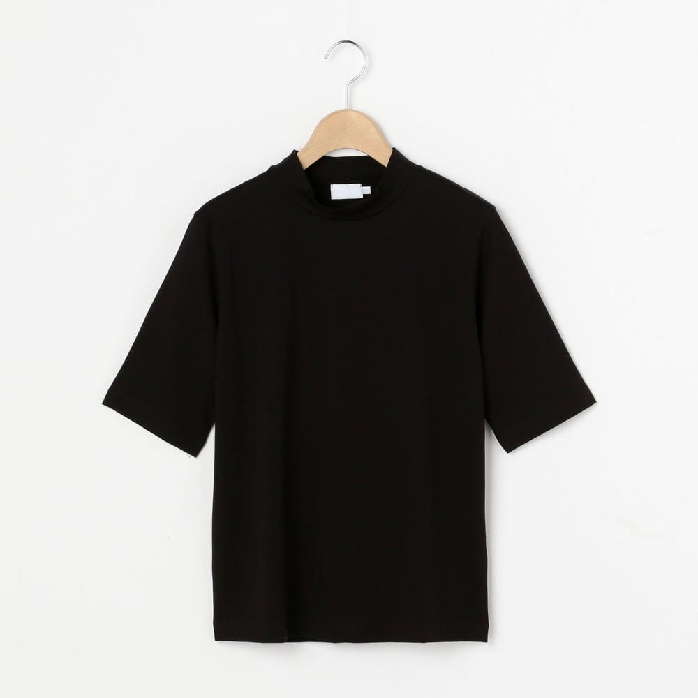 モックネック5分袖Tシャツ WOMEN