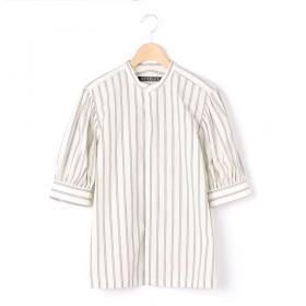 〈別注〉ギャザースリーブシャツ WHITE WOMEN