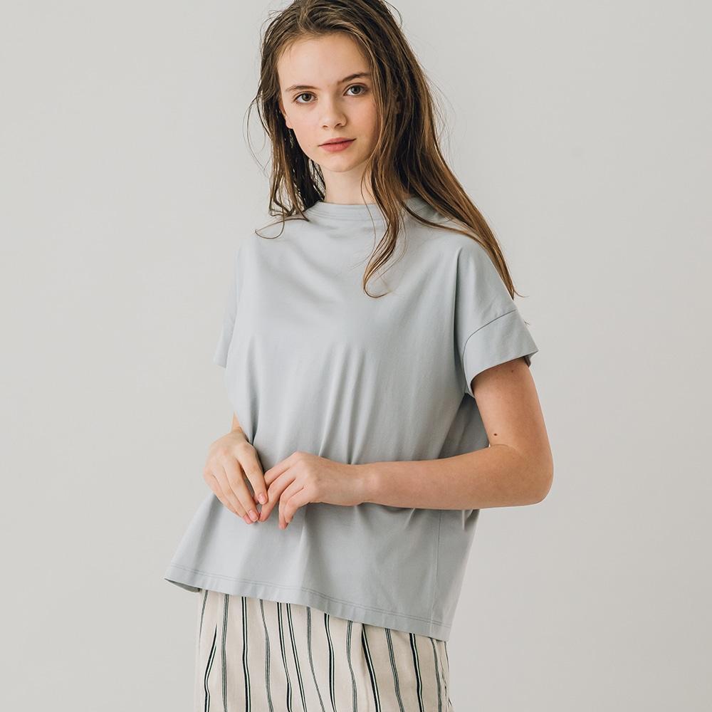 ボトルネック 半袖Tシャツ WOMEN