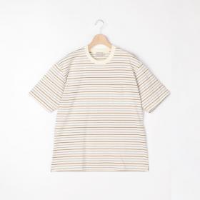 クルーネック 半袖ポケットTシャツ STRIPE MEN