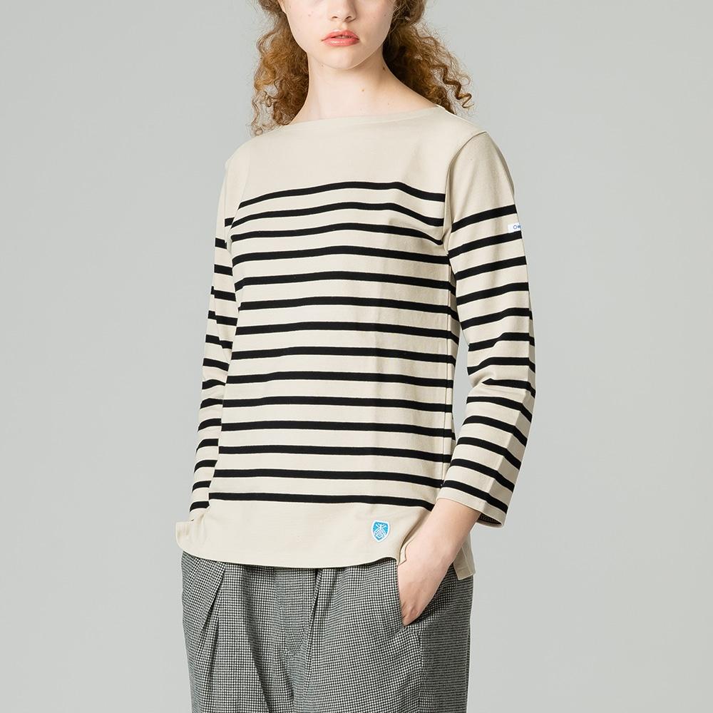 ラッセルフレンチセーラーTシャツ PUMICE WOMEN