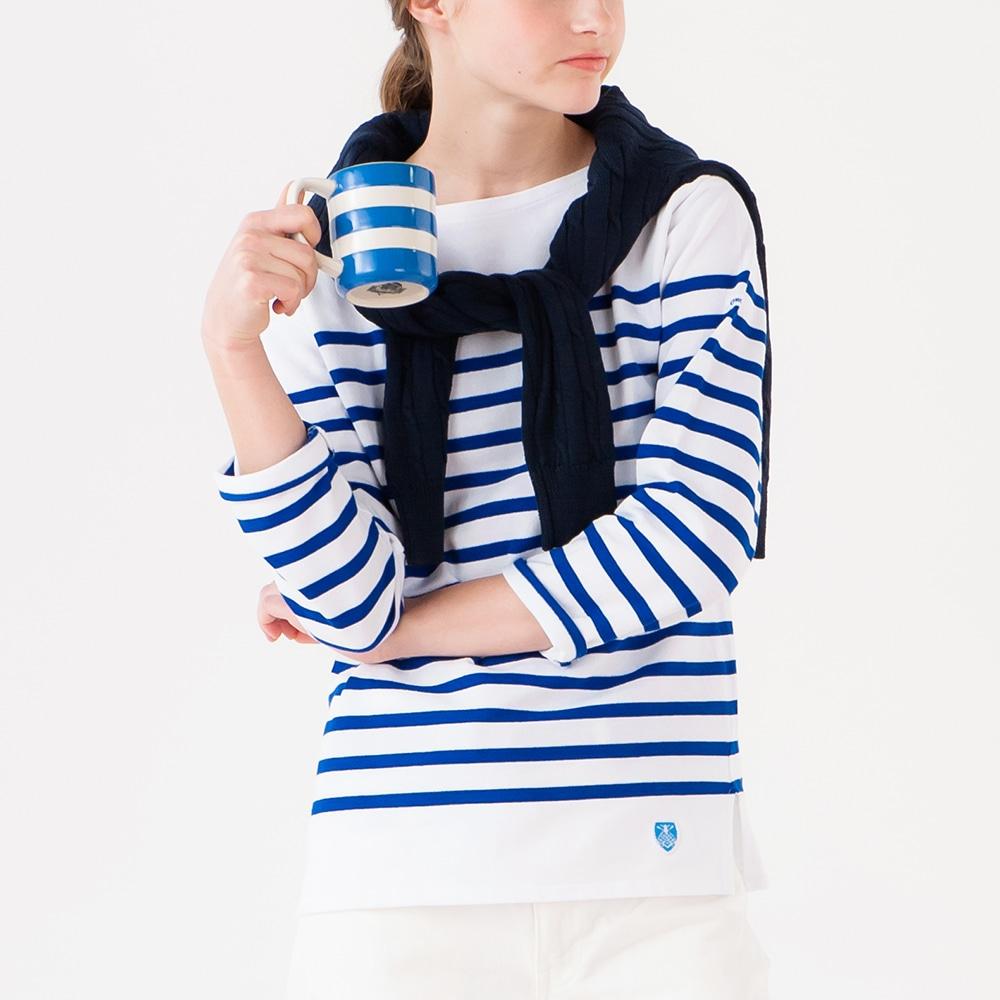 ラッセルフレンチセーラーTシャツ BLEU WOMEN