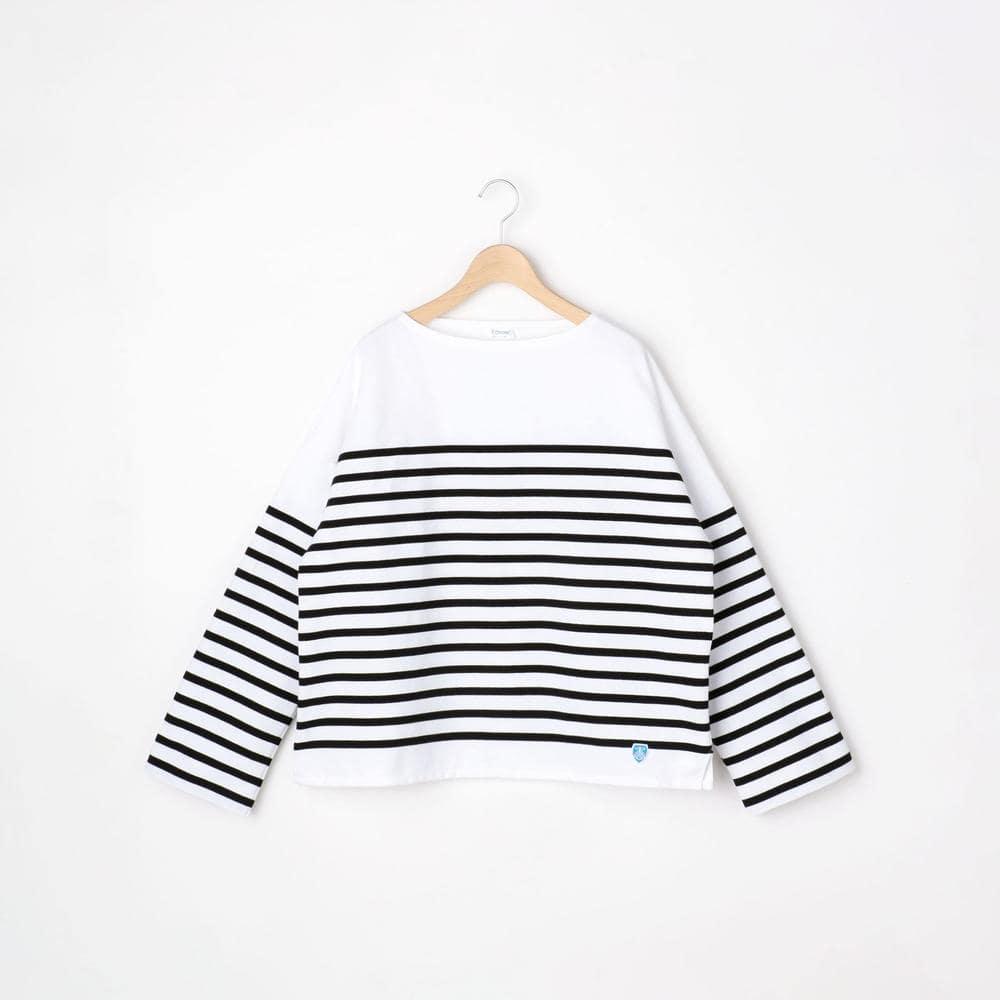 【フェア対象】ラッセルフレンチセーラードロップショルダーTシャツ BLK WOMEN