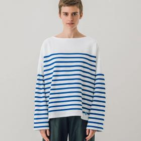 ラッセルフレンチセーラードロップショルダーTシャツ WOMEN