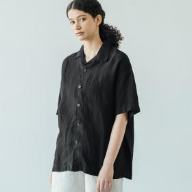 ライトリネン オープンカラーシャツ WOMEN