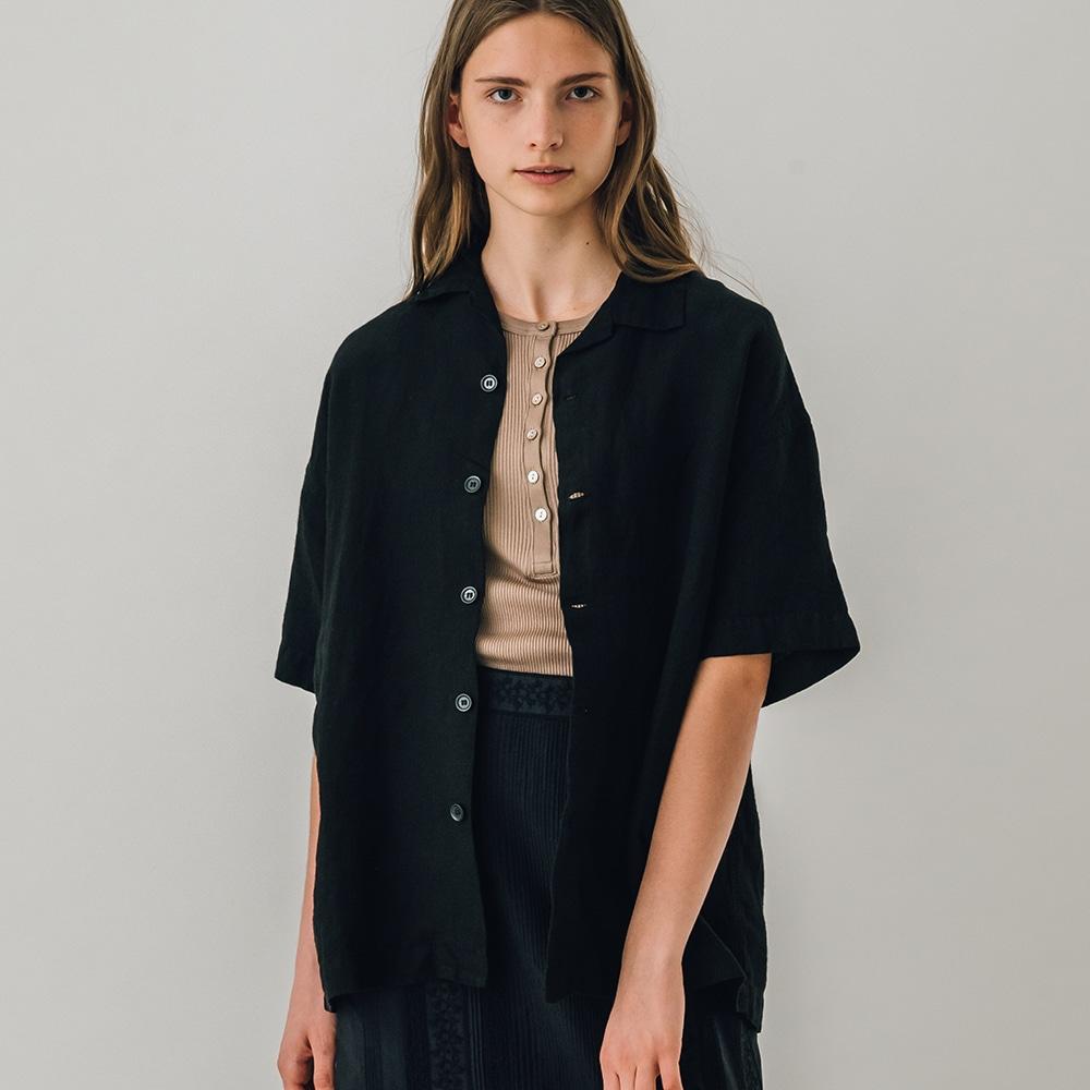 オープンカラー リネンシャツ WOMEN