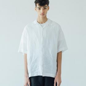 ライトリネン オープンカラーシャツ MEN