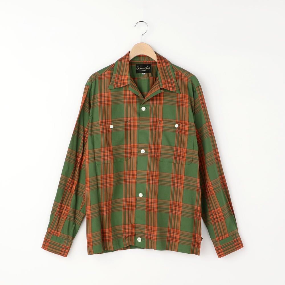 【OUTLET】チェックオープンカラーシャツ MEN