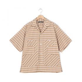 コットンジャガードチェックシャツ MEN