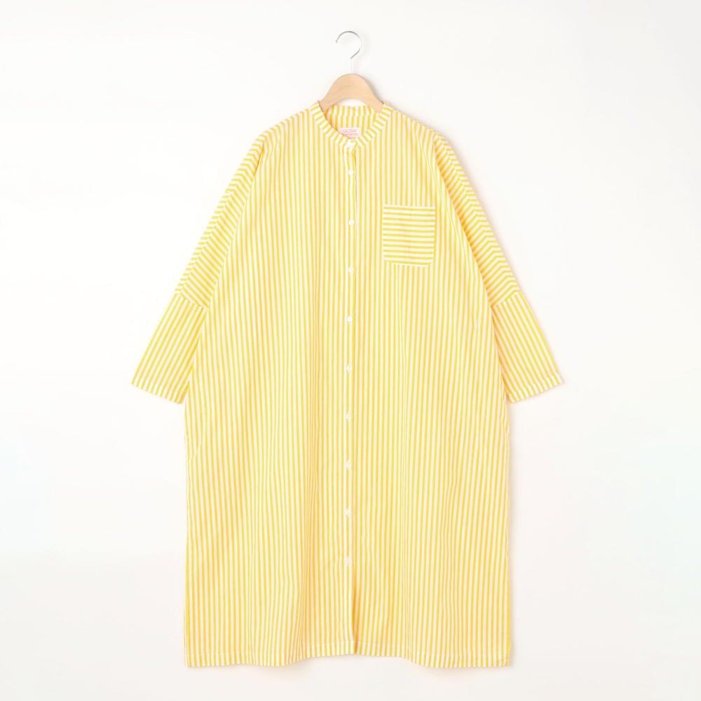 バンドカラーシャツドレス WOMEN