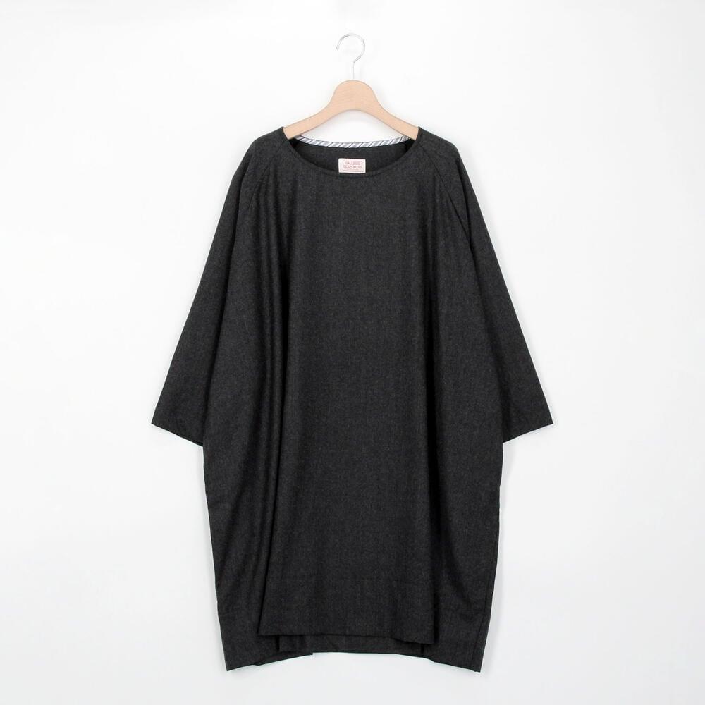 ウールフランネル ラグランスリーブドレス WOMEN