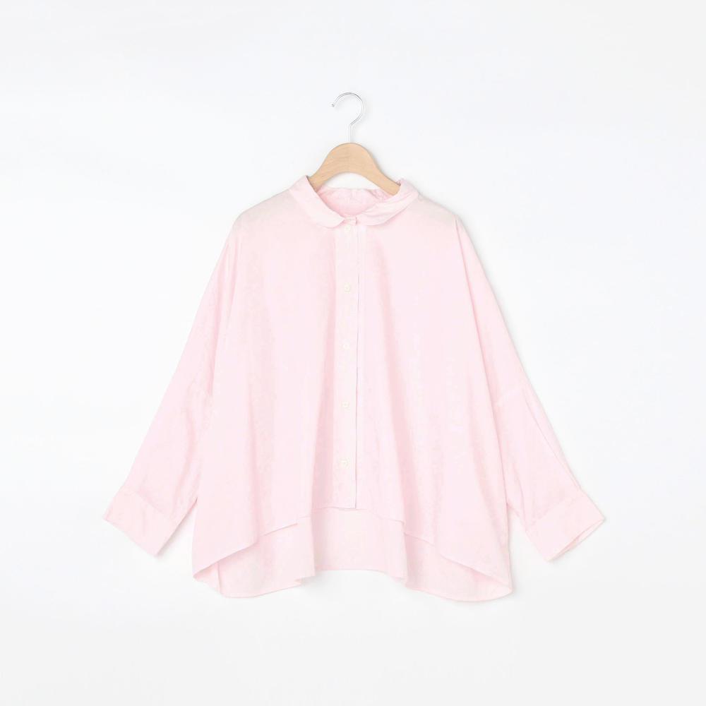 ラウンドカラー ビッグシャツ WOMEN