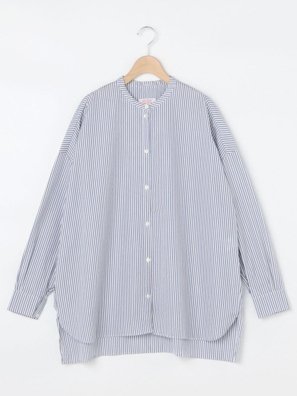 【OUTLET】ラージバンドカラーシャツ WOMEN