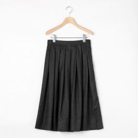 ウールフランネル プリーツスカート WOMEN