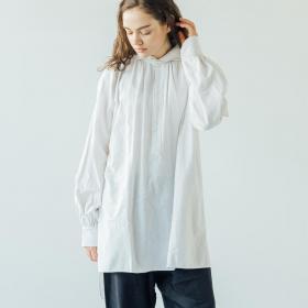 ベッドリネン ウェーブカラーシャツ WOMEN