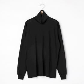 プレーティング ハイネック長袖Tシャツ WOMEN