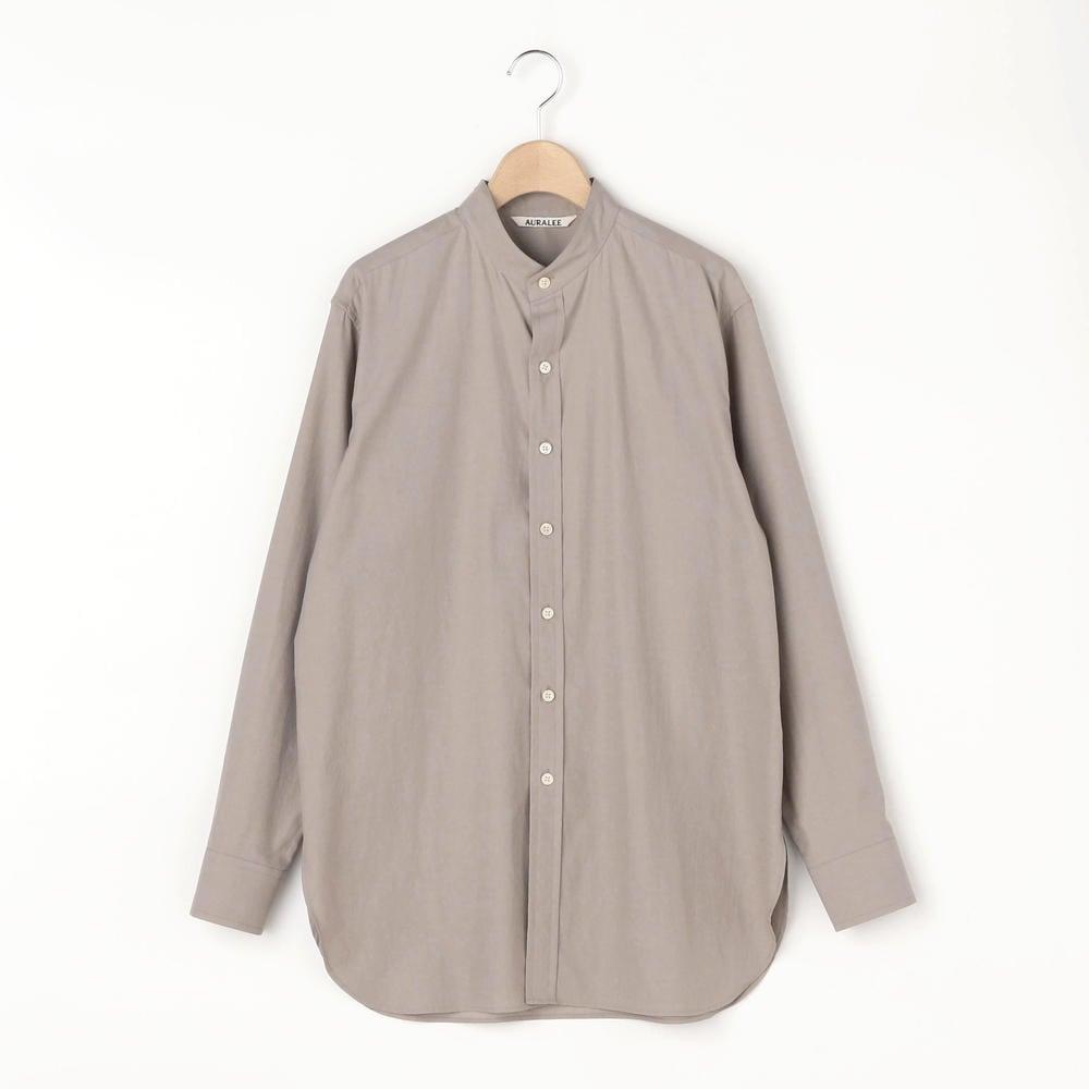 フィンクスツイル スタンドカラーシャツ WOMEN