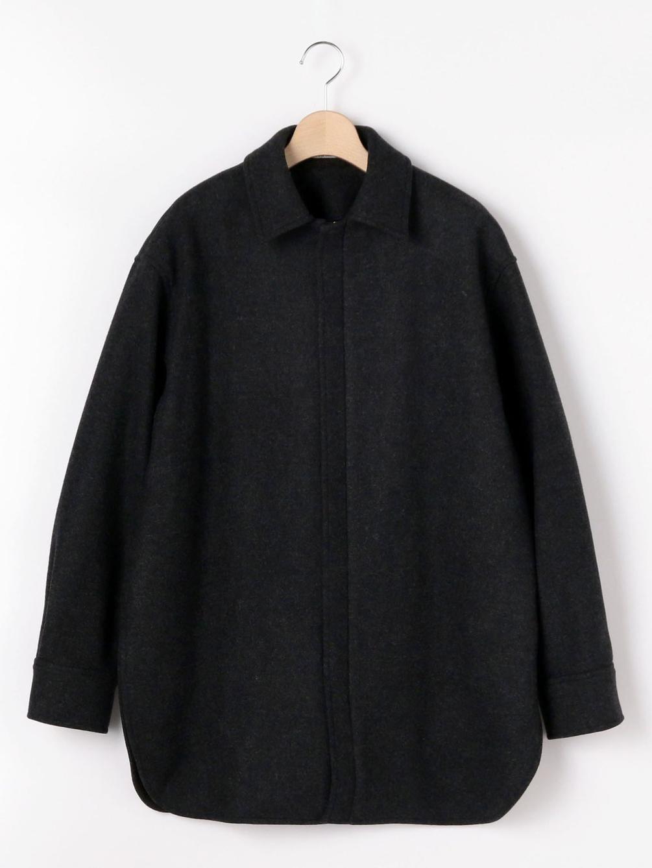 【OUTLET】ライトメルトン ZIPシャツジャケット WOMEN