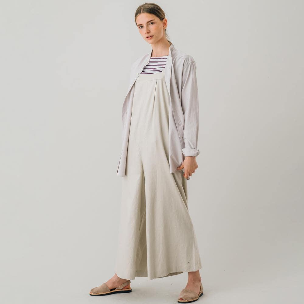 フィンクスツイル スタンドカラーシャツ SOLID WOMEN