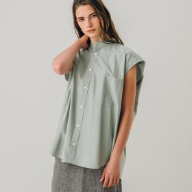 フィンクスツイル スリーブレスシャツ WOMEN